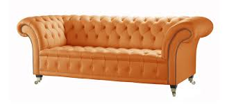 Brown Leather Chesterfield Sofa by Orange Leather Chesterfield Sofa Handcrafted In The Uk
