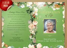 funeral booklet templates funeral program booklet postcard template inspiks market