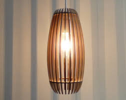 twisted lasercut wooden lampshade no 1