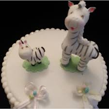zebra mommy and baby cake topper zebra baby shower zebra cake