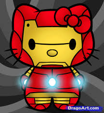 draw kitty iron man step step characters pop