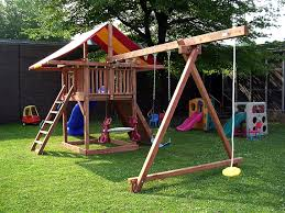 garden incredible outdoor playground designs with likeable wooden
