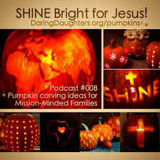 50 pretty pumpkin carving ideas christian cross faith missions
