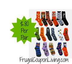 12 pairs of halloween socks for 14 99 or 1 24 each