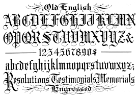 old english font style a z tattoo font creator free online fonts