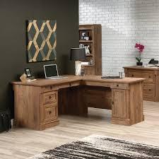 Brown Corner Desk L Shaped Oak Corner Desk Vine Crest Rc Willey Furniture Store