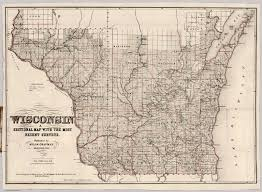Map Of Wisconsin by Sectional Map Of Wosconsin David Rumsey Historical Map Collection