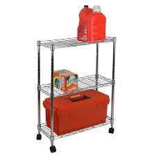 Overstock Bakers Rack Amazon Com Oceanstar 3 Tier Shelving All Purpose Utility Cart