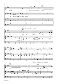 of the s satb choral scor j w pepper sheet