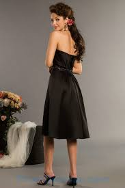 buy tailor made tailored made beading strapless satin black short