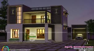 Architectural Designs Com by Flat Roof 3680 Sq Ft 3 Bedroom Home Kerala Home Design And Floor