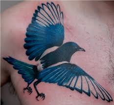 blue magpie tattoo