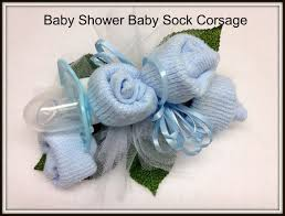 baby sock corsage baby shower baby baby shower baby sock corsage with pacifier
