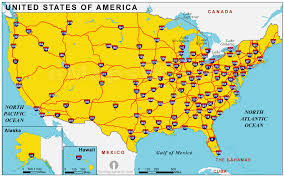 map us states highways us map states highways stock vector united states of america road