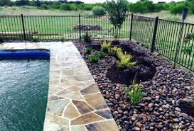 Rock Landscaping Ideas Backyard Landscaping Around Pool With Rocks Image Of Pool Landscaping Ideas