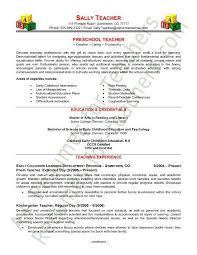Curriculum Vitae Resume Samples by Preschool Teacher Resume Sample Page 1 Curriculum Vitae