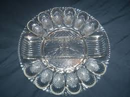 deviled egg serving tray le smith glass deviled egg serving tray clear with 2