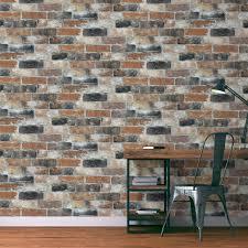 panneau fausse brique papier peint netta 100 intissé imitation briques rouge brique