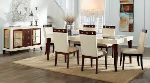Dining Room Sets With Fabric Chairs affordable rectangle dining room sets rooms to go furniture