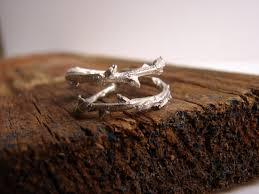 twig ring branch ring double branch thorn sterling silver