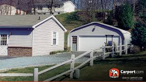 Garage With Carport How Will A Metal Carport Affect Your Property Value