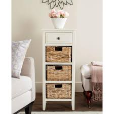 Distressed White Table Safavieh Michaela Distressed White Storage Side Table Amh5744b