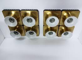 applique anni 70 coppia plafoniera applique chandelier modulari 8 in ottone