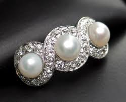 pearl and diamond engagement rings pearl and diamond engagement rings beautiful ring