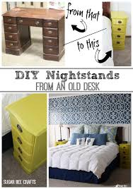 Desk Transforms Into Bed Nightstands From A Desk Sugar Bee Crafts