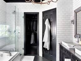 black and white bathroom ideas pictures timeless black and white master bathroom makeover hgtv
