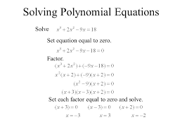 7 solving polynomial equations