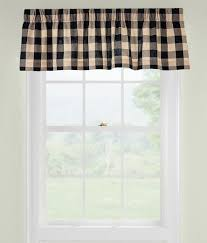 window toppers buffalo check valance country curtains