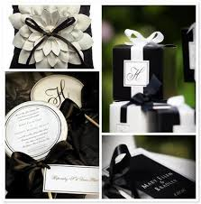 black tie party favors black and white wedding theme arabia weddings
