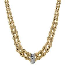 gold chain necklace rope images Rope chain necklace in 14k yellow gold sam 39 s club