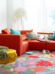 home decor red decorations cheerful bohemian apartment decor with flower rug