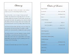 funeral program wording single fold memorial program funeral phlets