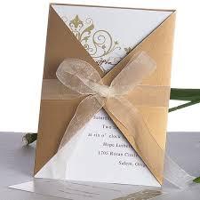 gatefold wedding invitations vintage golden deco gatefold wedding invitations ukf173