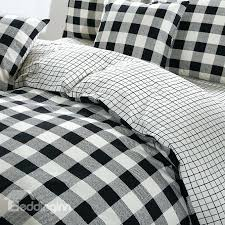 Black And White Twin Duvet Cover Duvet Covers Black And White Black And White Plaid Print Cotton 4