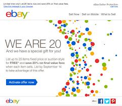Ebay Spreadsheet Ebay Offers 20 Discount On Seller Fees U0026 More Doctor Of Credit