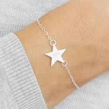 sterling silver star bracelet images Personalised sterling silver star bracelet by bloom boutique jpg