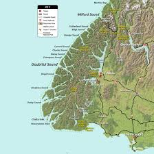Air New Zealand Route Map by Maps Destination Fiordland