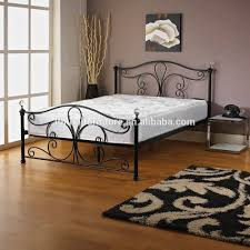 new white metal bedframe bed frame super king size 180x200 cm incl