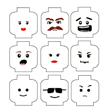 lego face template printable sketch coloring page halloween