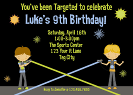 army birthday invitations laser tag birthday invitations u2013 gangcraft net