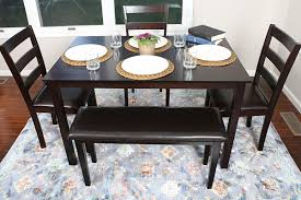 4 person 5 piece kitchen dining table set 1 table 3 leather