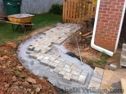 How To Make A Patio Out Of Pavers Paver Path Work But Worth Every Sore Paths