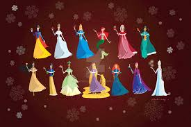 disney princesses christmas time by amadeuxway on deviantart