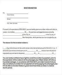 blank eviction notice form blank eviction notice form free word