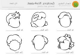 15 emotion faces coloring pages coloring download emotion faces