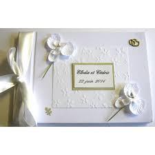 livre sur le mariage livre d or mariage or et orchidées blanches atelier du livre dor